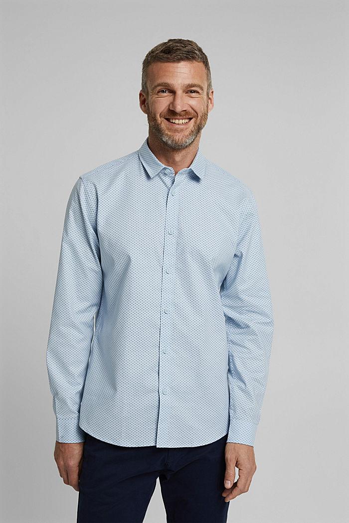 Print shirt made of organic cotton, LIGHT BLUE, detail image number 0