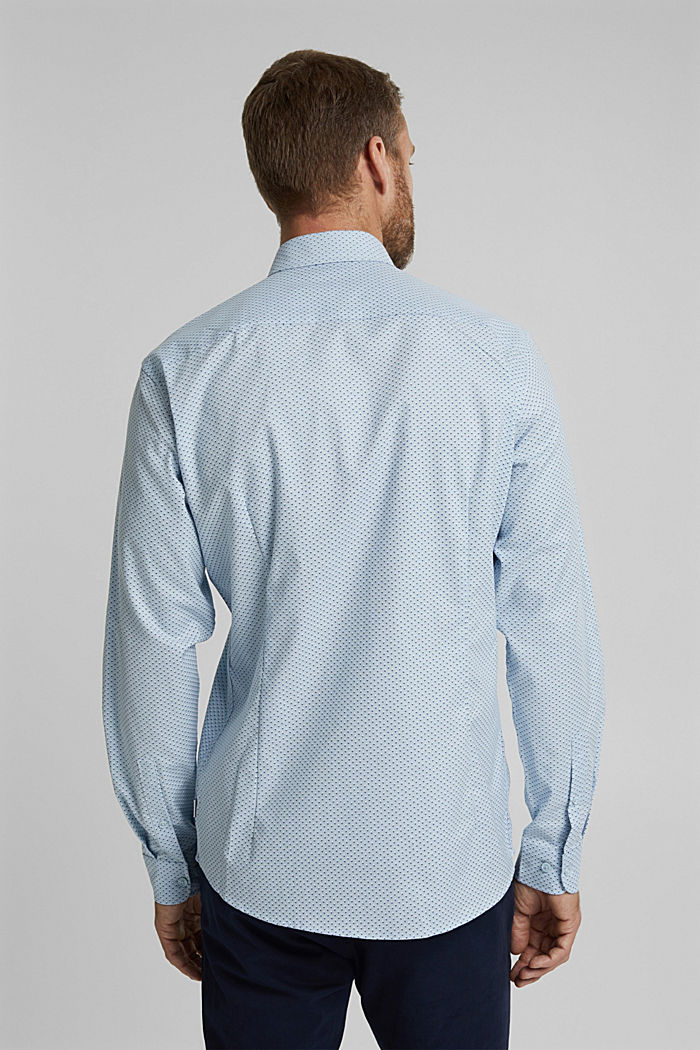 Print-Hemd aus Organic Cotton, LIGHT BLUE, detail image number 3