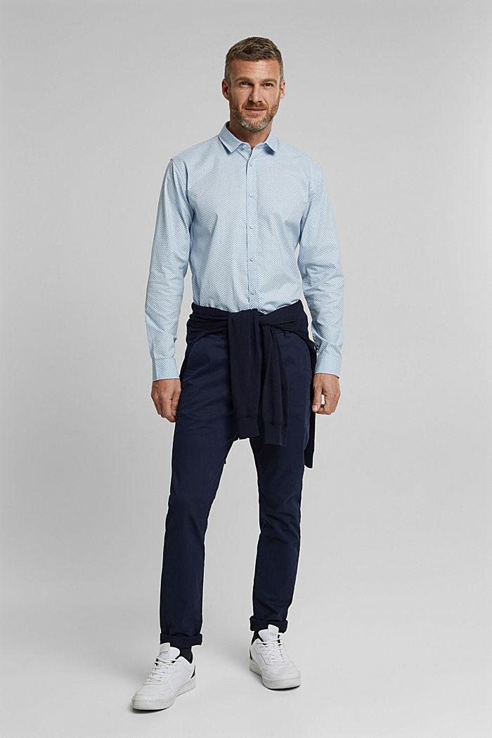 Print-Hemd aus Organic Cotton, LIGHT BLUE, detail image number 5