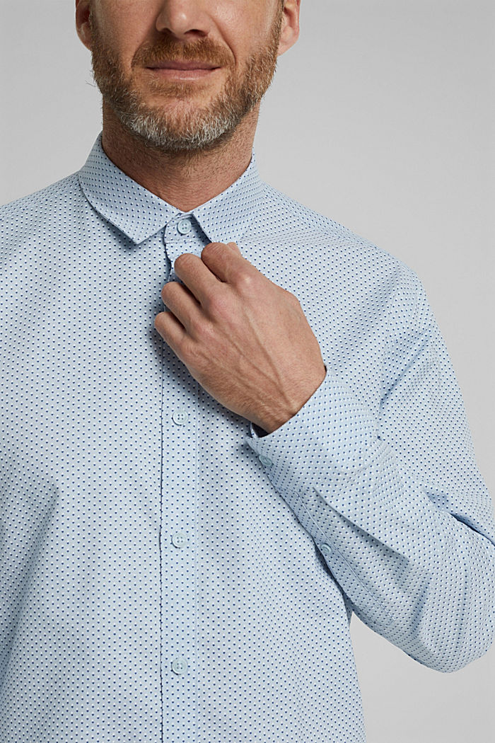 Print-Hemd aus Organic Cotton, LIGHT BLUE, detail image number 2