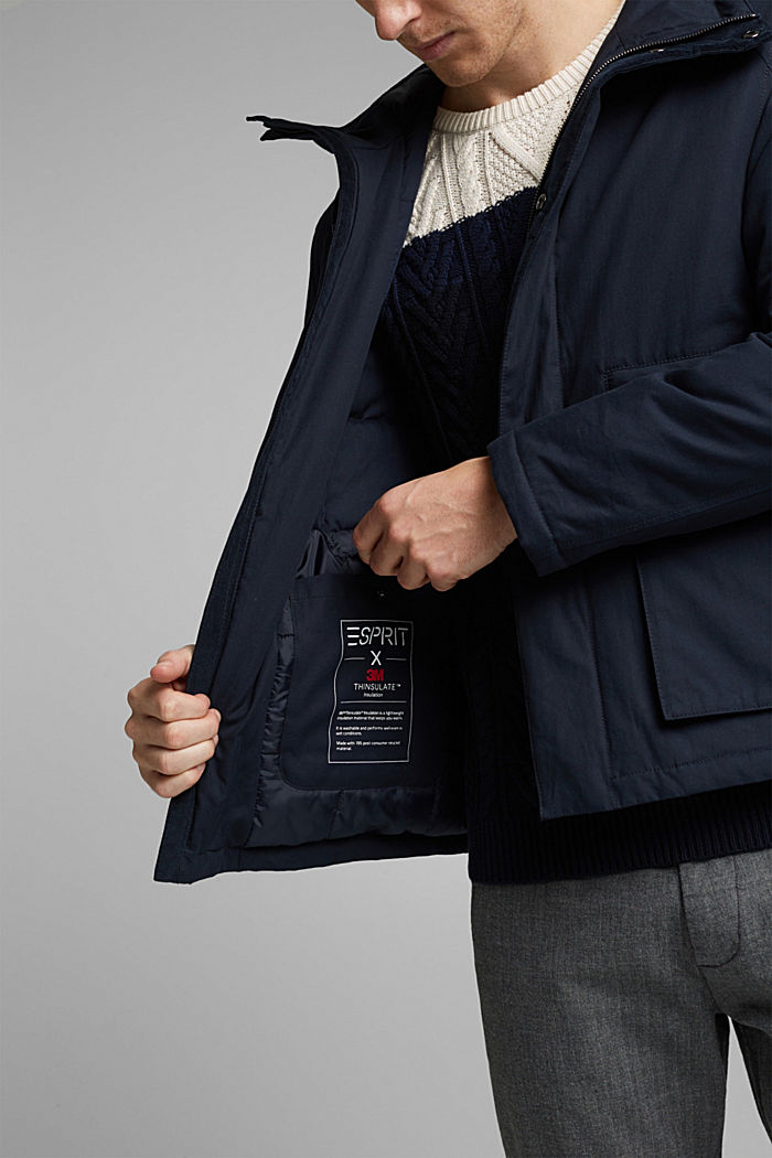 Parka met 3M™Thinsulate™-vulling, DARK BLUE, detail image number 6