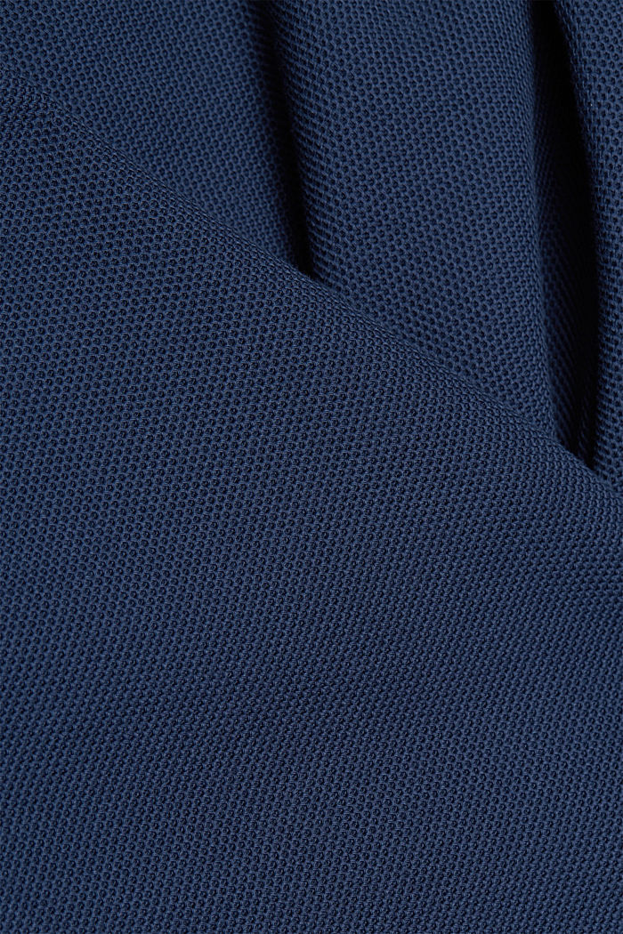 Sports jacket in a honeycomb knit, organic cotton, GREY BLUE, detail image number 4