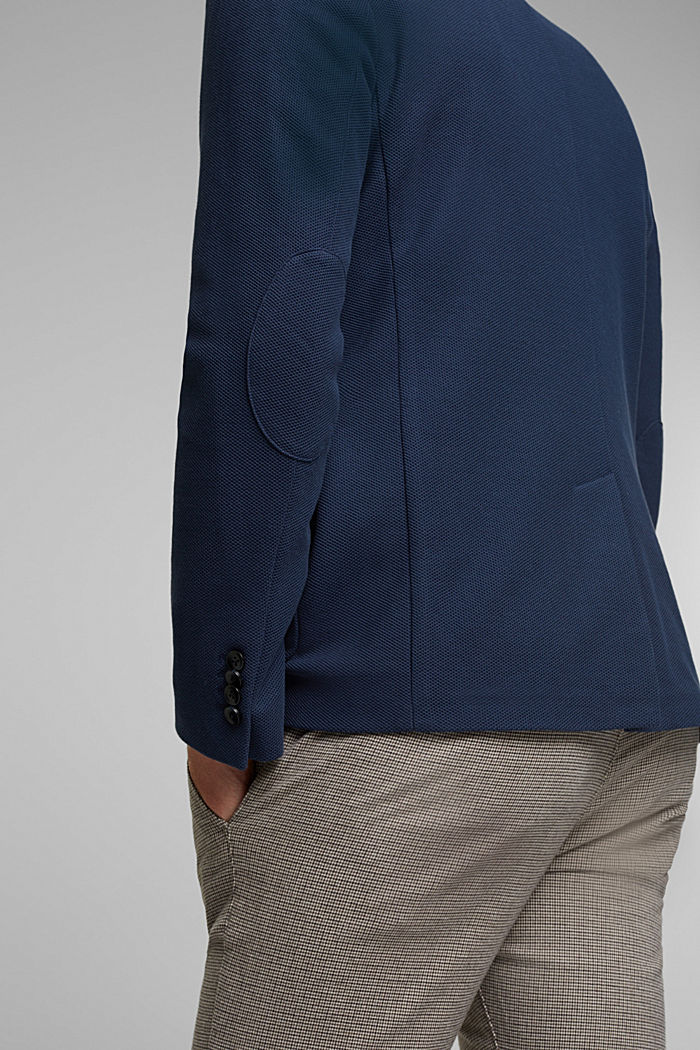 Sports jacket in a honeycomb knit, organic cotton, GREY BLUE, detail image number 5