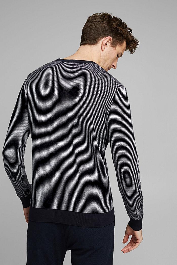 2-Tone Pullover aus 100% Organic Cotton, NAVY, detail image number 3