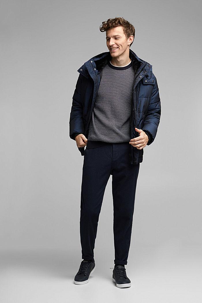 2-Tone Pullover aus 100% Organic Cotton, NAVY, detail image number 1