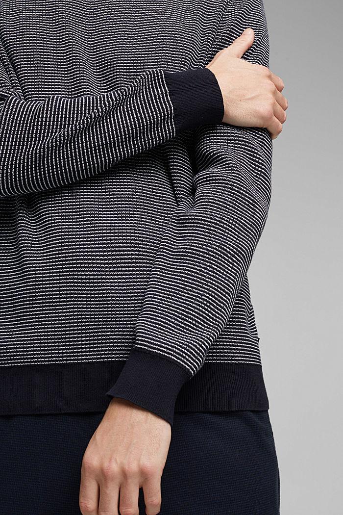 2-Tone Pullover aus 100% Organic Cotton, NAVY, detail image number 2