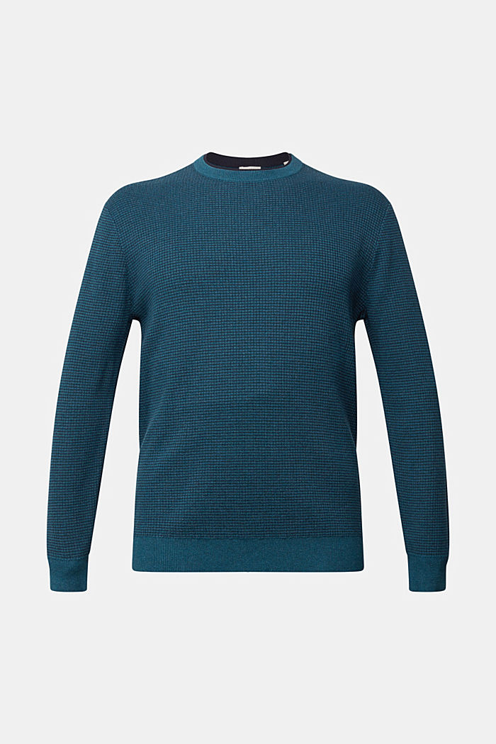 Two-tone jumper made of 100% organic cotton