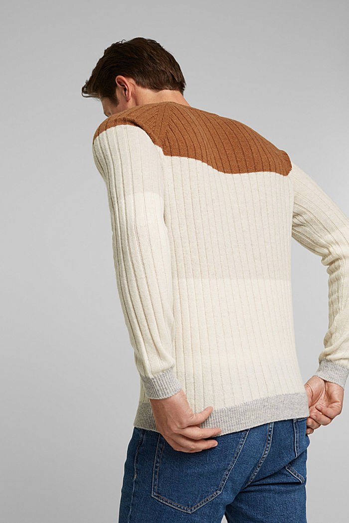 Pullover aus 100% Wolle, CAMEL, detail image number 3