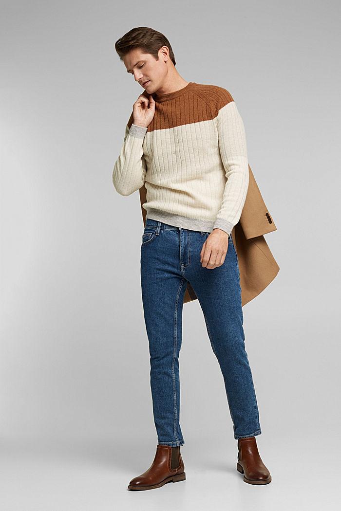 Jumper made of 100% wool, CAMEL, detail image number 1