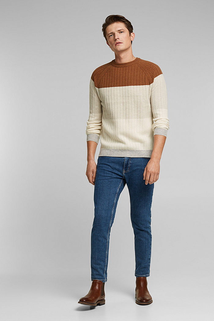Jumper made of 100% wool, CAMEL, detail image number 5