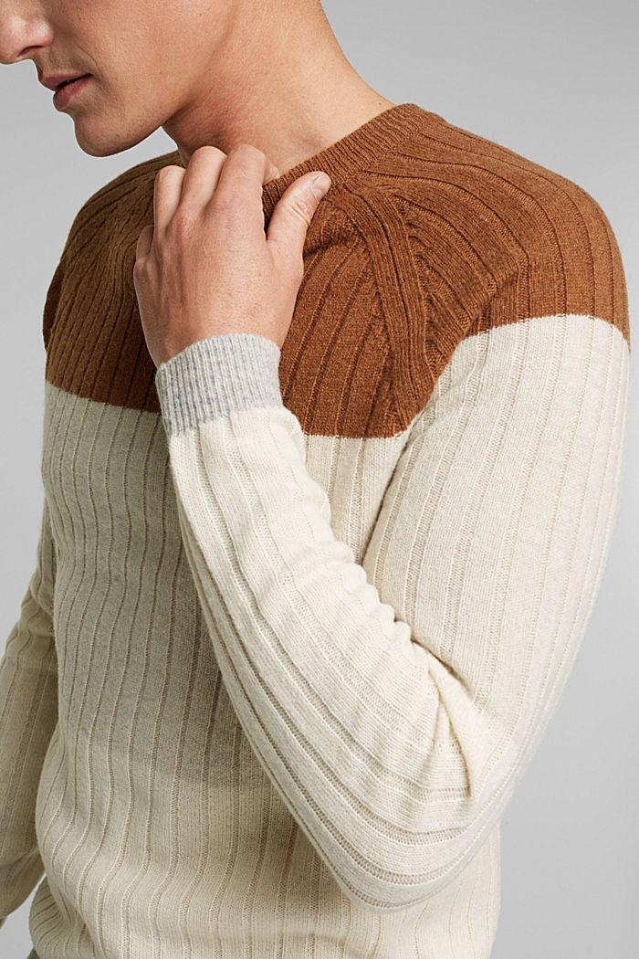Jumper made of 100% wool, CAMEL, detail image number 2