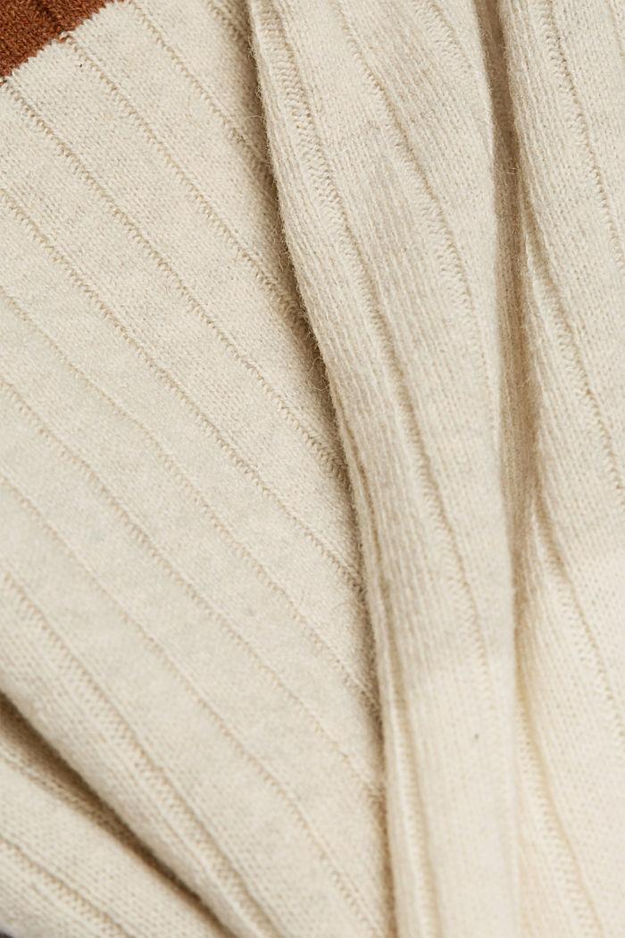 Jumper made of 100% wool, CAMEL, detail image number 4