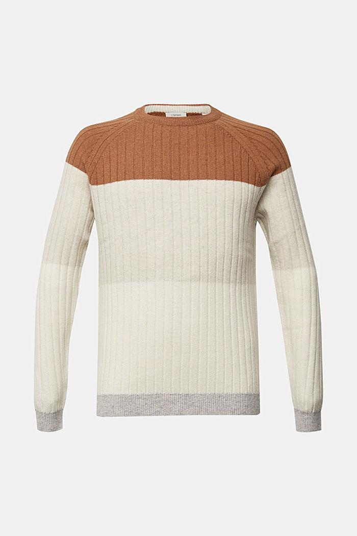 Jumper made of 100% wool, CAMEL, detail image number 6