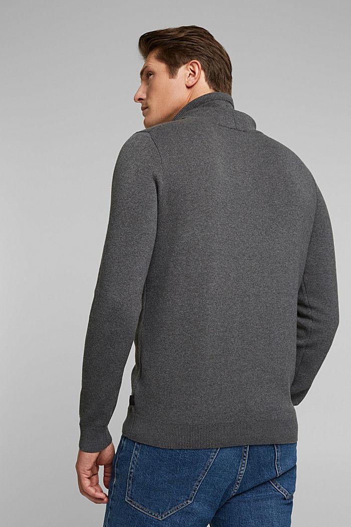 Recycelt: Pullover aus Baumwoll-Mix, DARK GREY, detail image number 3