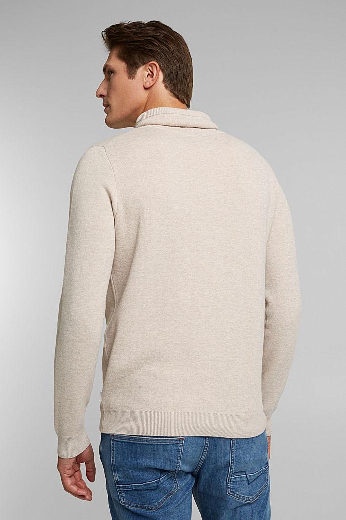Recycled: cotton blend jumper, LIGHT BEIGE, detail image number 3