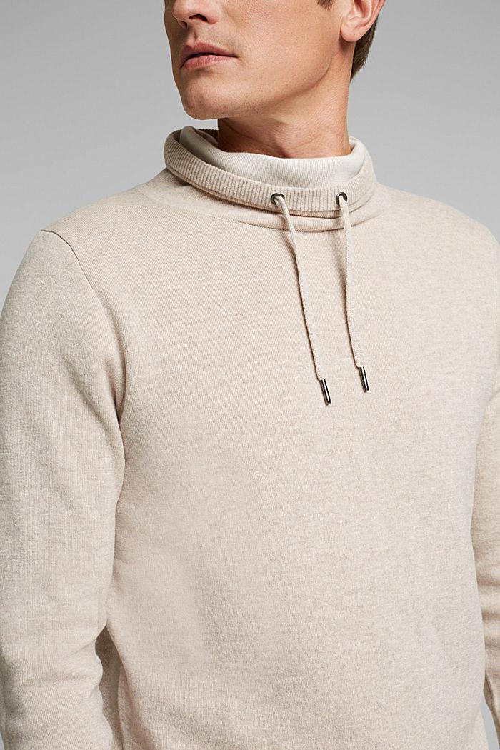 Recycled: cotton blend jumper, LIGHT BEIGE, detail image number 2