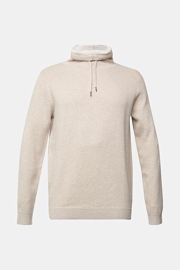 Recycled: cotton blend jumper, LIGHT BEIGE, detail image number 5
