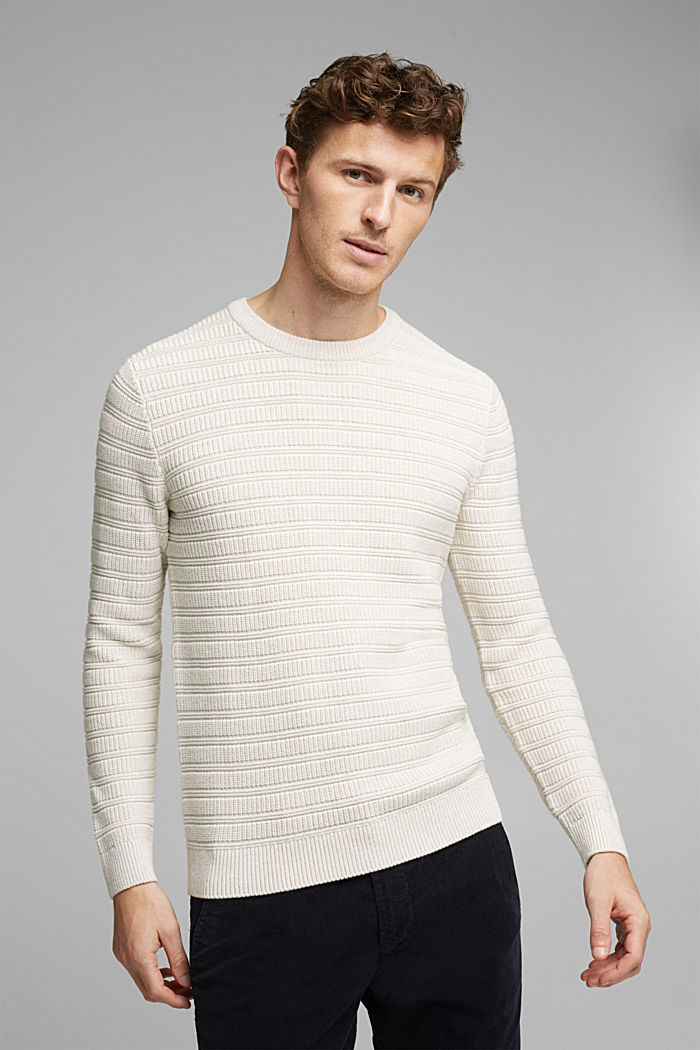 Textured jumper made of 100% organic cotton