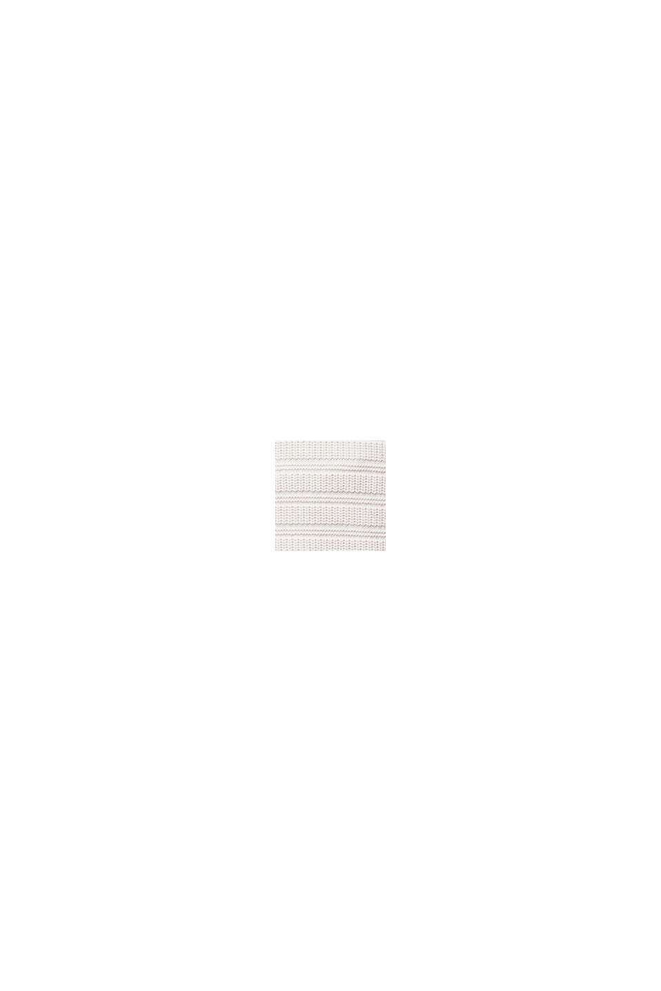 Jersey con textura en 100% algodón ecológico, OFF WHITE, swatch