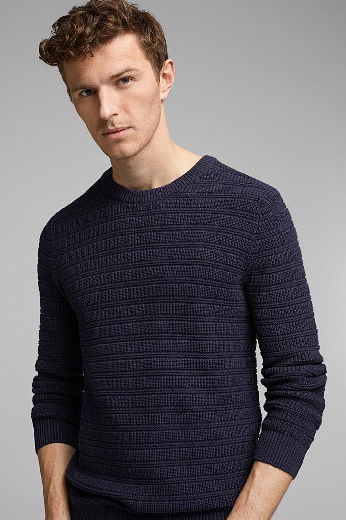 Struktur-Pullover aus 100% Organic Cotton