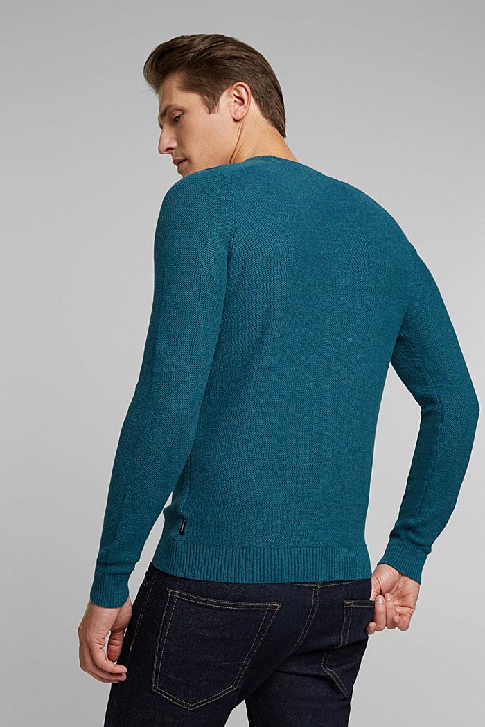 Jumper made of 100% organic cotton, TEAL BLUE, detail image number 3