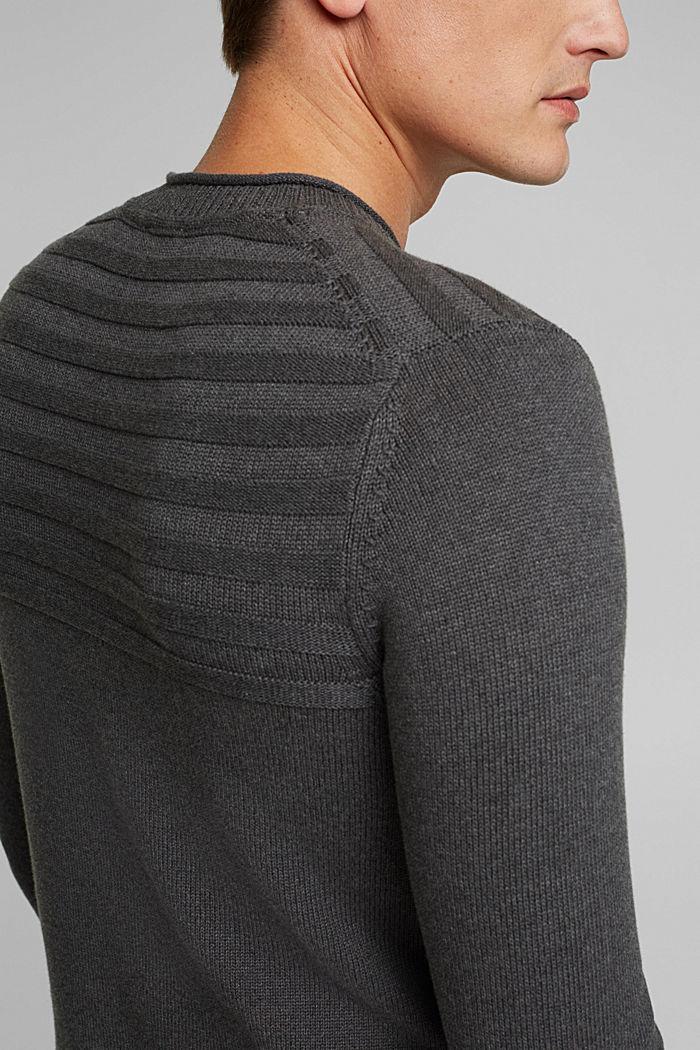 Jumper made of 100% organic cotton, DARK GREY, detail image number 2
