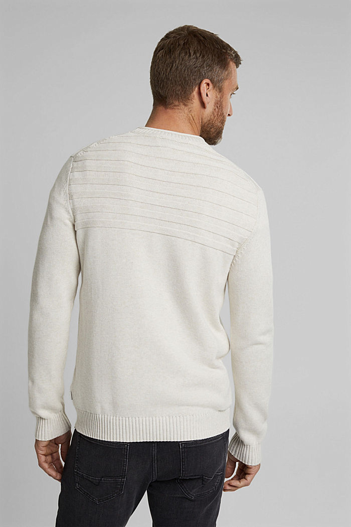 Jumper made of 100% organic cotton, OFF WHITE, detail image number 3