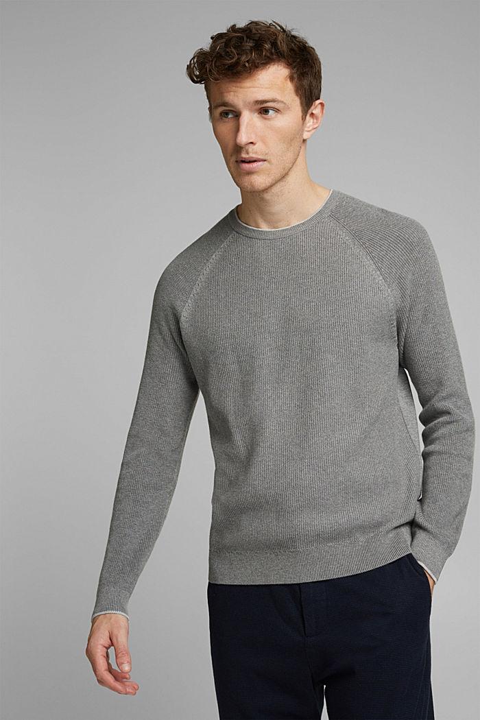 Pull-over texturé, 100% coton biologique