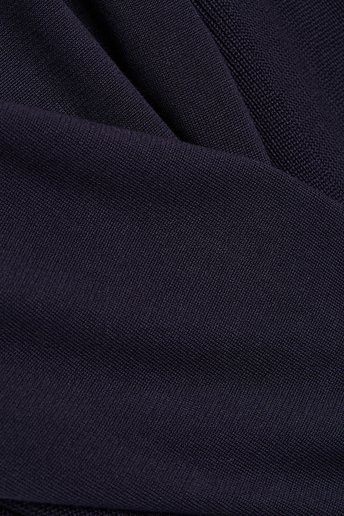 Gestructureerde trui van 100% organic cotton, NAVY, detail image number 4