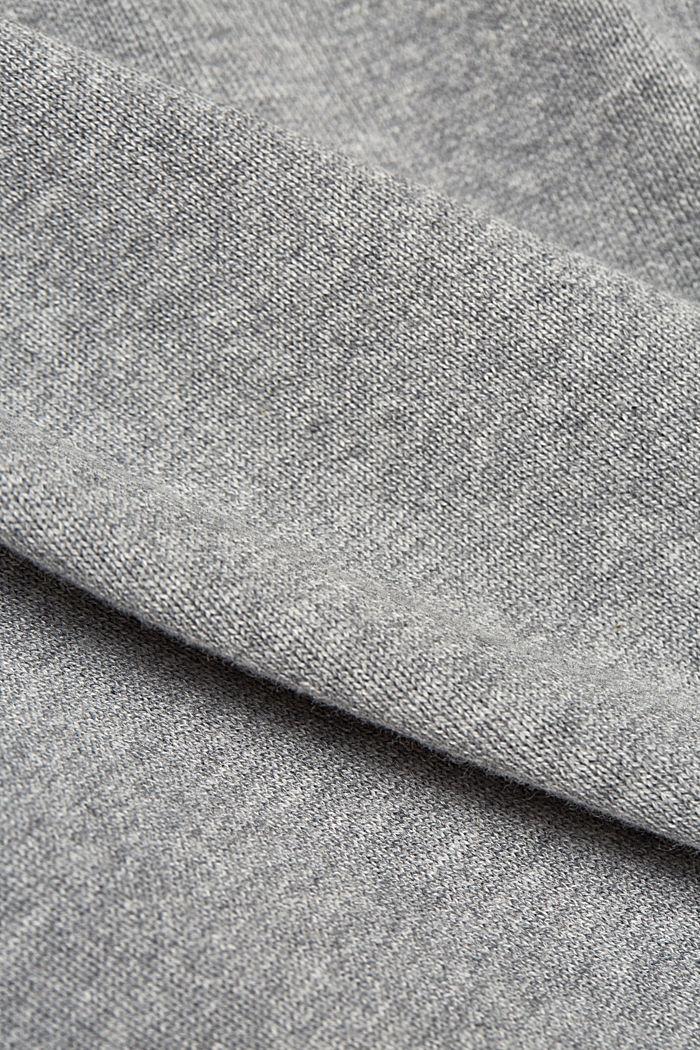 Textured zip cardigan, organic cotton, MEDIUM GREY, detail image number 4