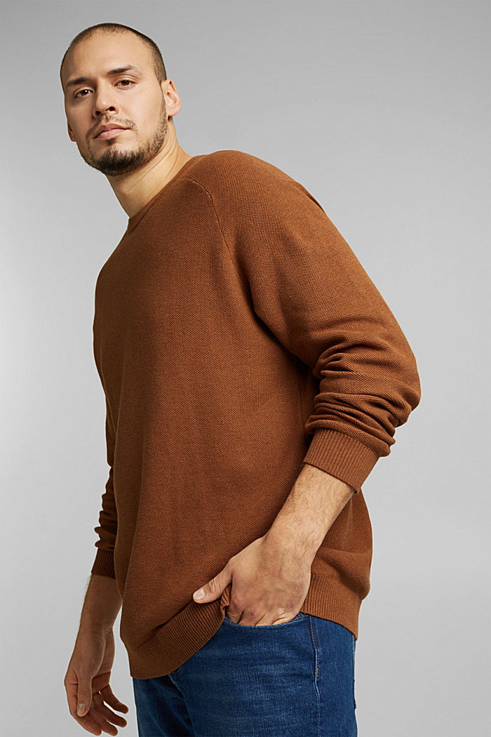 Jumper made of 100% organic cotton, CAMEL, detail image number 6