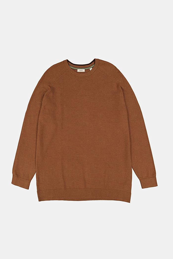 Jumper made of 100% organic cotton, CAMEL, detail image number 5
