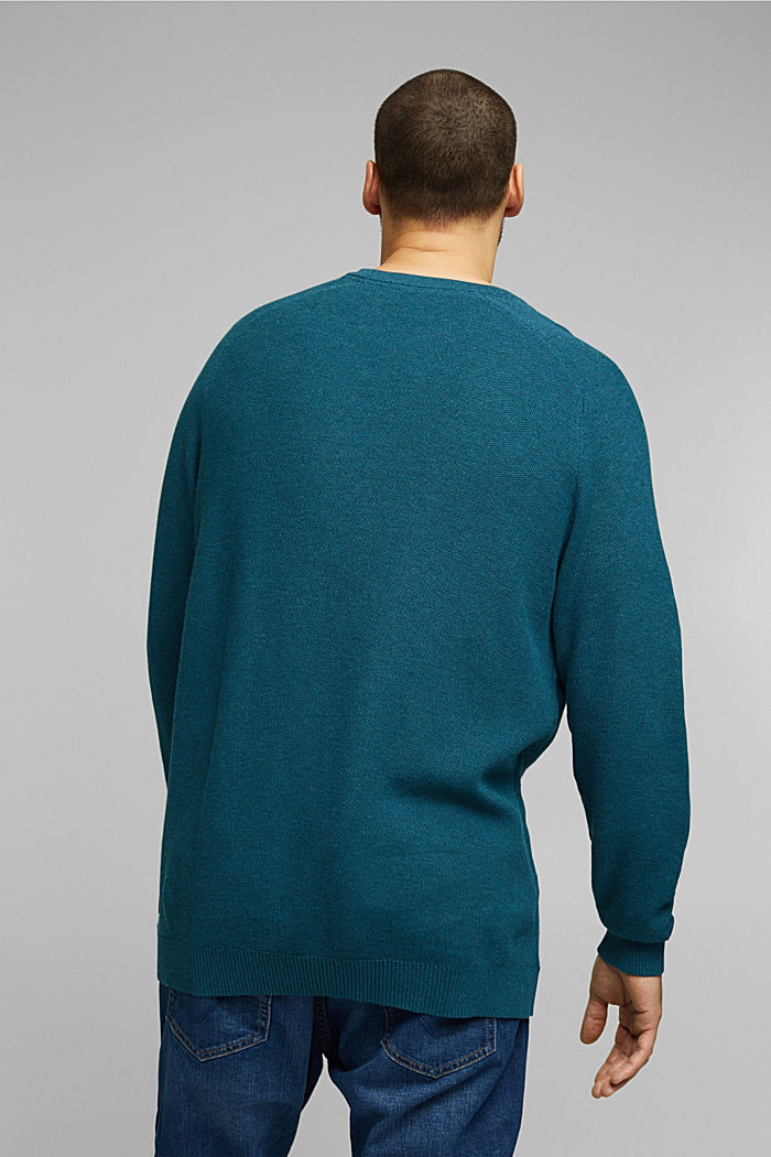 Pullover aus 100% Organic Cotton, TEAL BLUE, detail image number 2