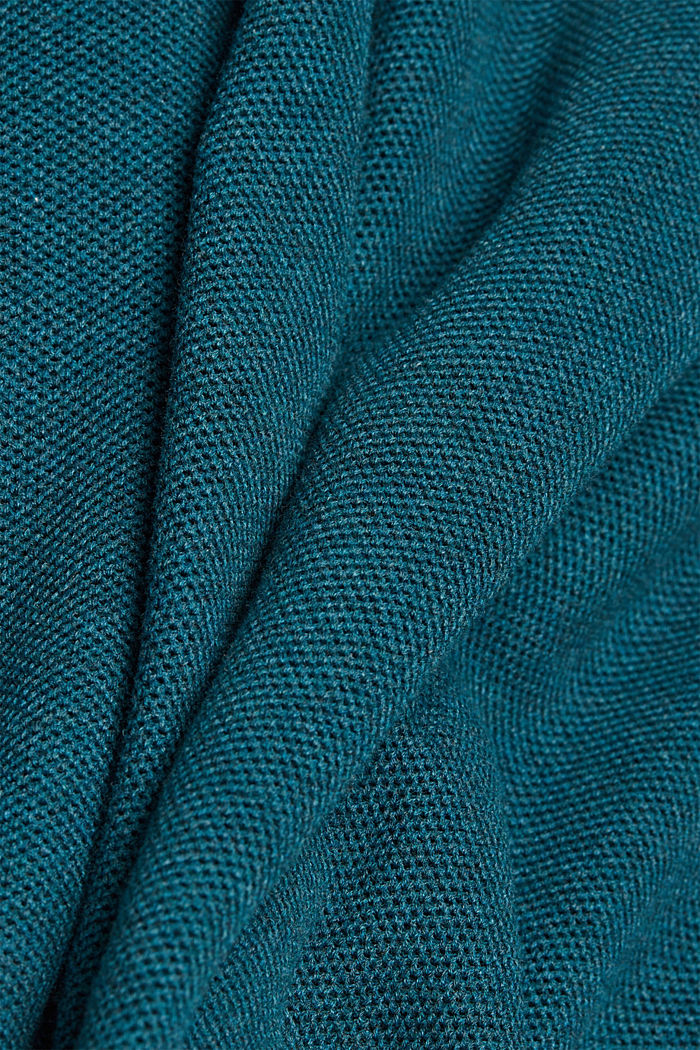 Pullover aus 100% Organic Cotton, TEAL BLUE, detail image number 3