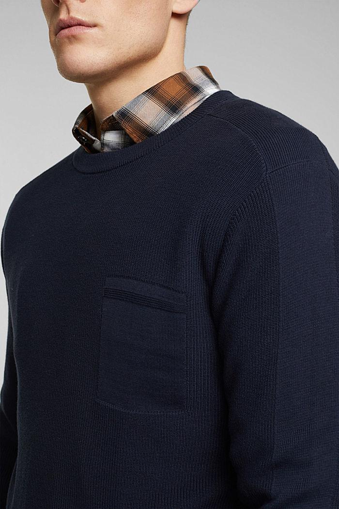 Pullover aus 100% Organic Cotton, NAVY, detail image number 2