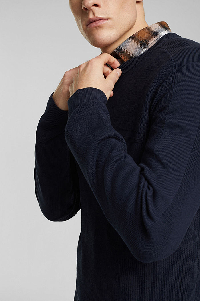 Jumper made of 100% organic cotton, NAVY, detail image number 5