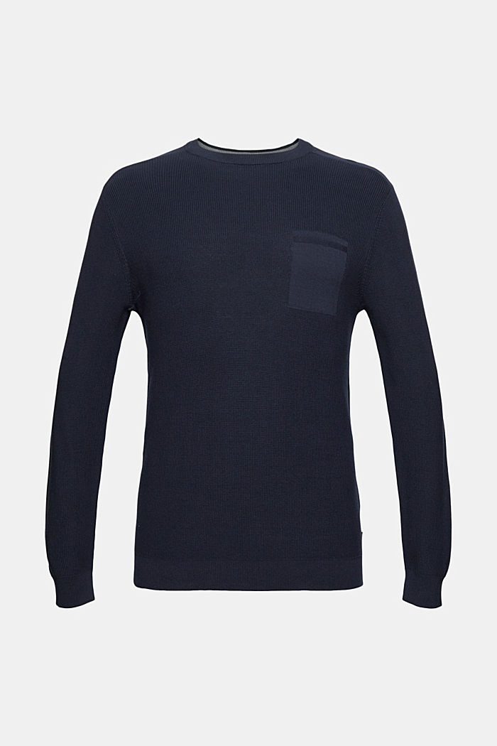 Jumper made of 100% organic cotton, NAVY, detail image number 6