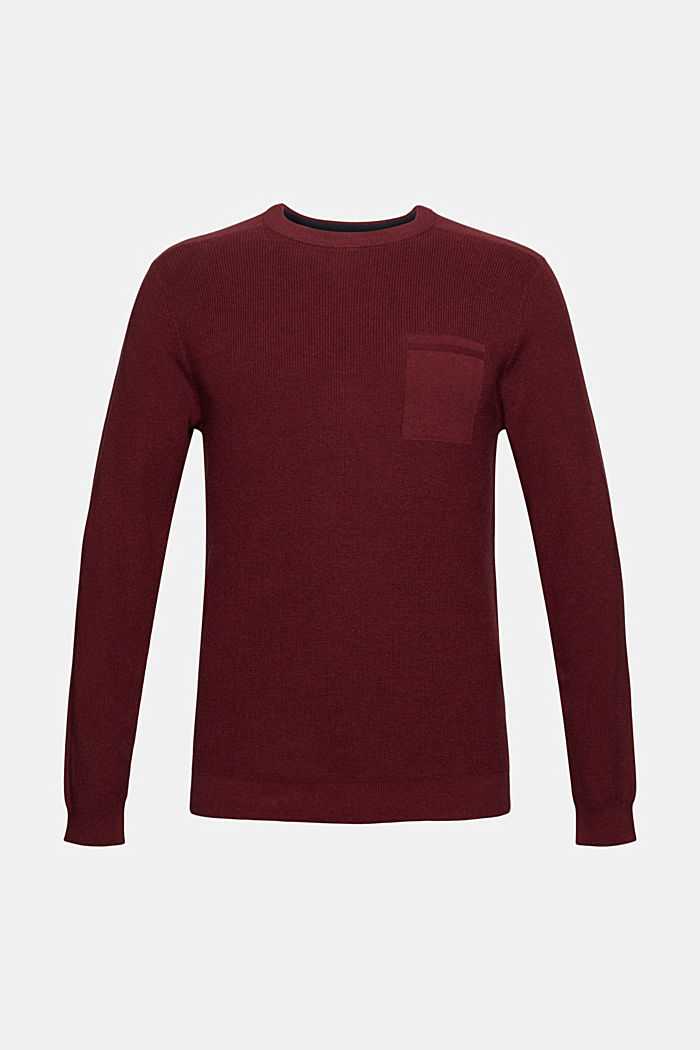 Jumper made of 100% organic cotton, BORDEAUX RED, detail image number 6
