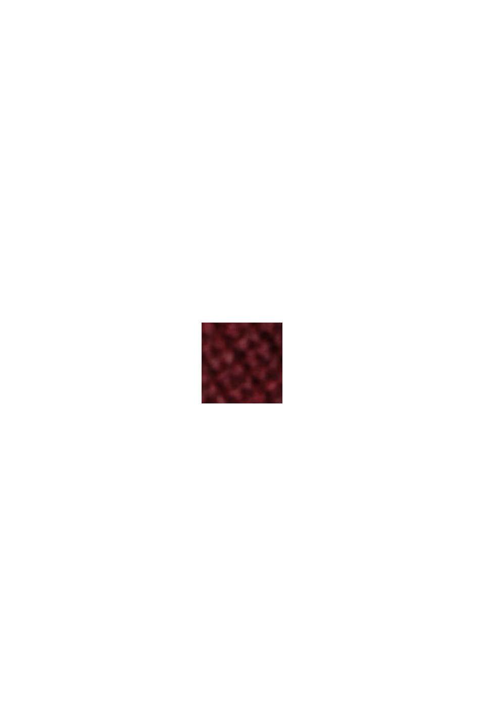 Jersey en 100% algodón ecológico, BORDEAUX RED, swatch