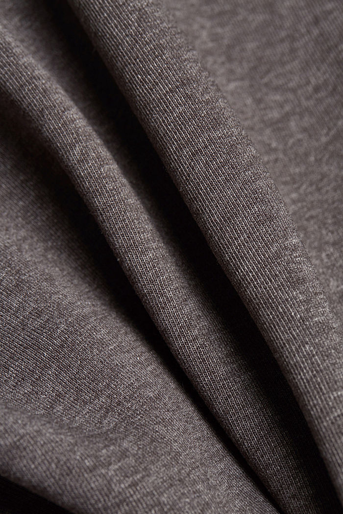Recycled: Zip cardigan with organic cotton, ANTHRACITE, detail image number 4