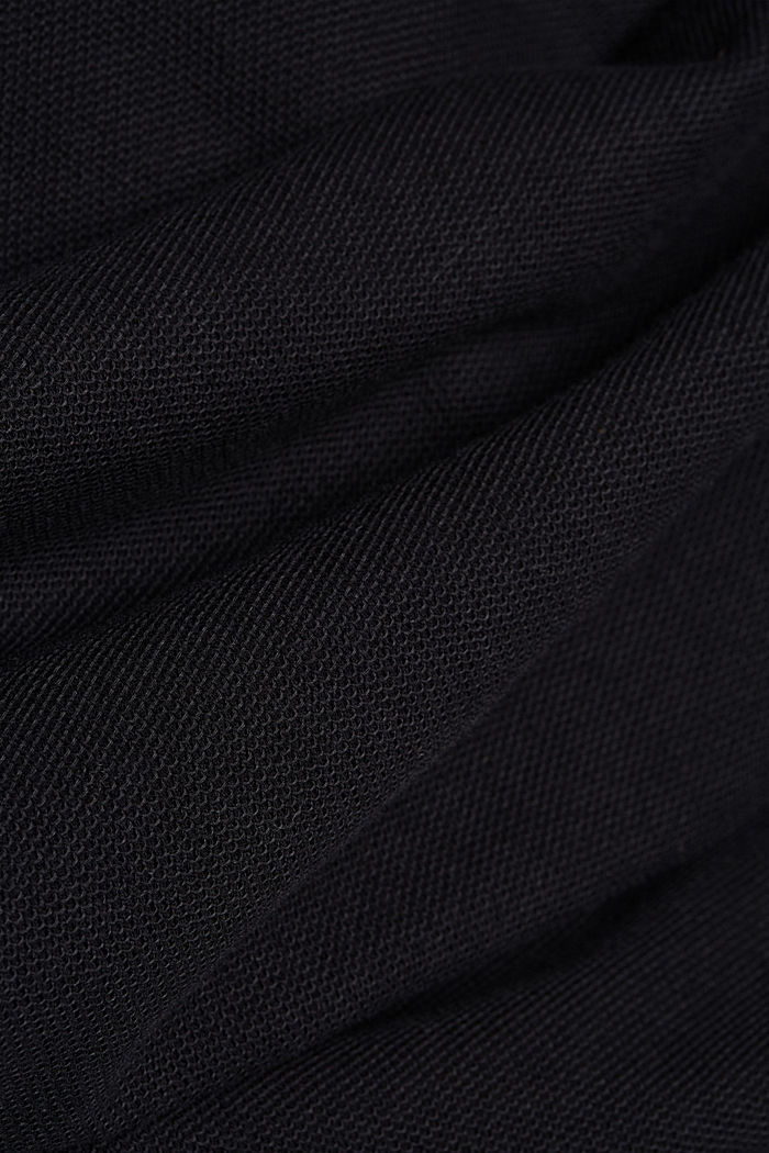 Textured long sleeve top, 100% organic cotton, BLACK, detail image number 4