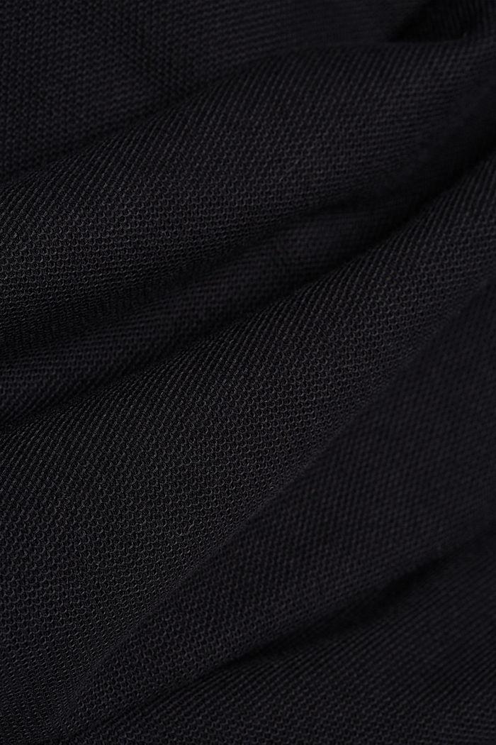 Gestructureerde longsleeve, 100% biologisch katoen, BLACK, detail image number 4