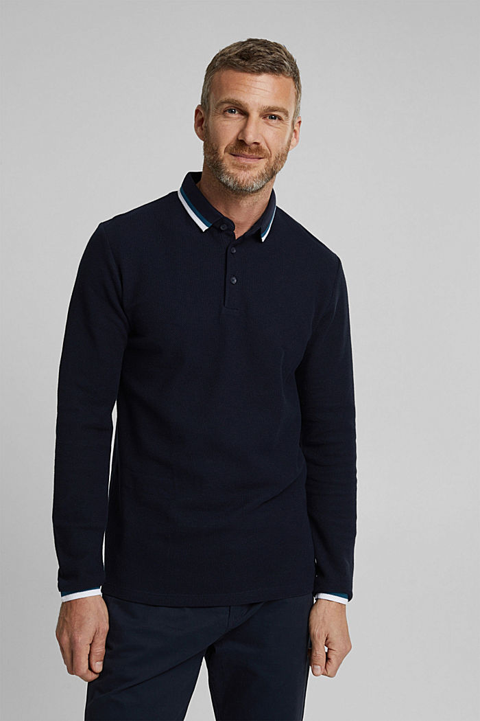 Polo shirt made of 100% organic cotton, NAVY, detail image number 0