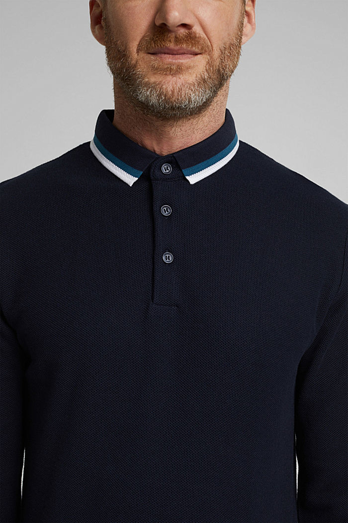 Polo shirt made of 100% organic cotton, NAVY, detail image number 1