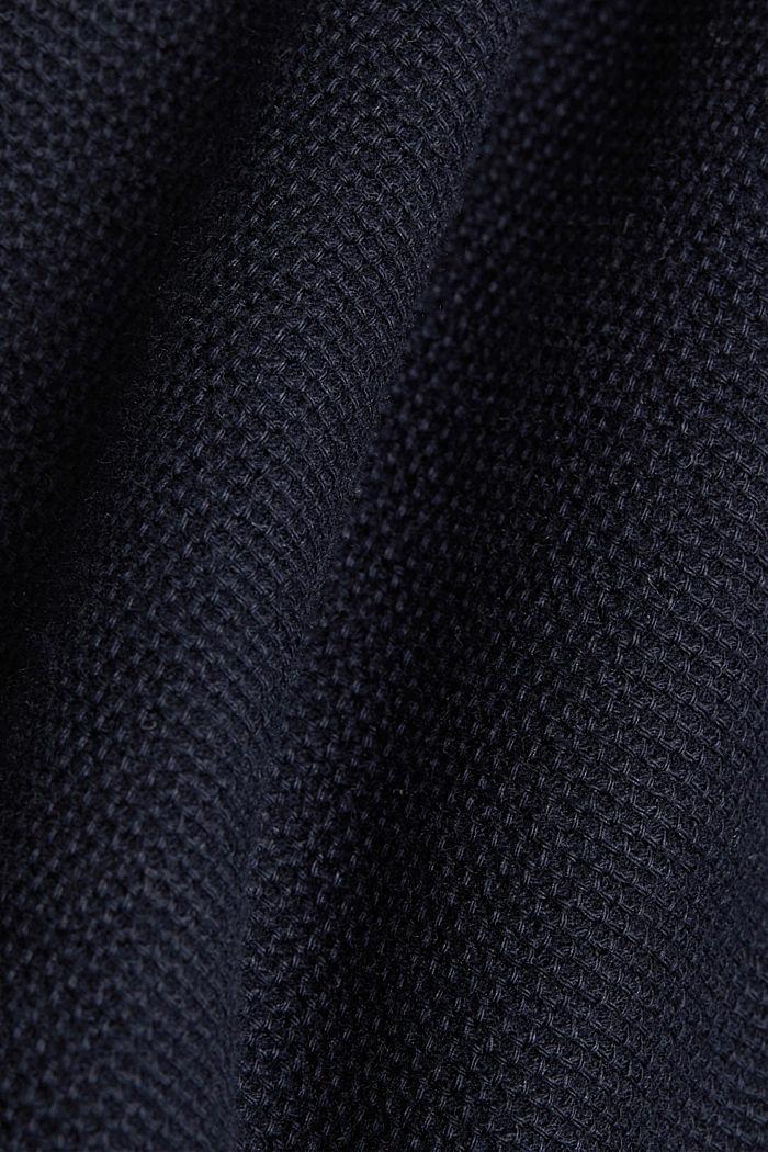 Poloshirt van 100% biologisch katoen, NAVY, detail image number 5