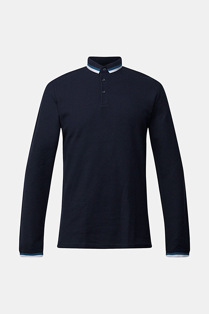 Polohemd aus 100% Organic Cotton, NAVY, overview