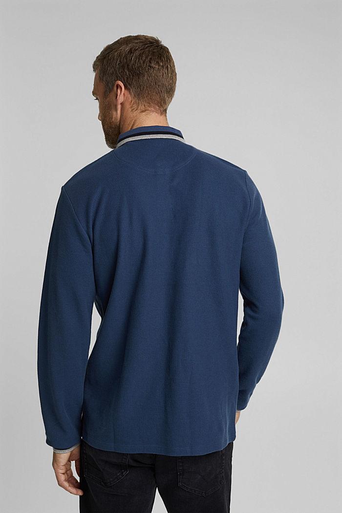 Poloshirt van 100% biologisch katoen, GREY BLUE, detail image number 3