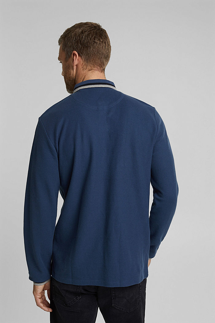 Polohemd aus 100% Organic Cotton, GREY BLUE, detail image number 3