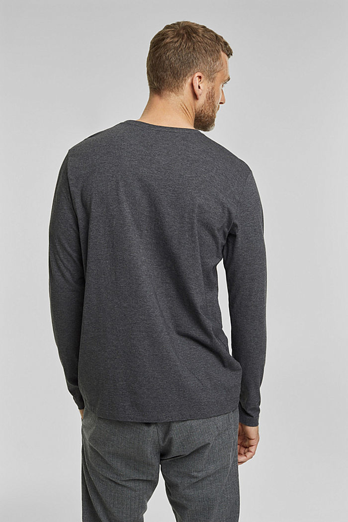 Long sleeve top made of 100% organic cotton, ANTHRACITE, detail image number 3