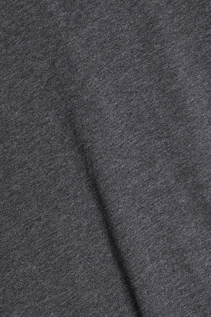 Long sleeve top made of 100% organic cotton, ANTHRACITE, detail image number 4